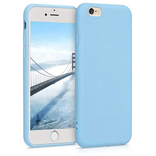 kwmobile Funda Compatible con Apple iPhone 6 / 6S - Carcasa de TPU Silicona - Protector Trasero en Azul grisáceo