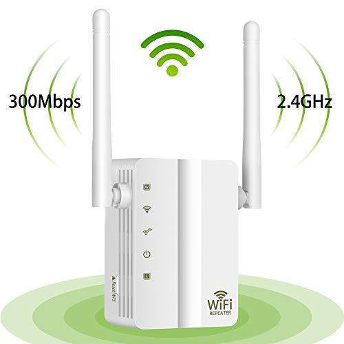 Wodgreat WLAN Repeater Verstaerker WiFi Mini Router VerstäRker Wireless Range Extender (300 Mbit/s, 2,4GHz, mit LAN Anschluss und Eingang/Wps/2dBi Antenna)
