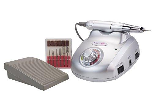Laron Nail Master manicure pedicure apparaat en incl. 6-delige freesset en voetschakelaar, manicure frees
