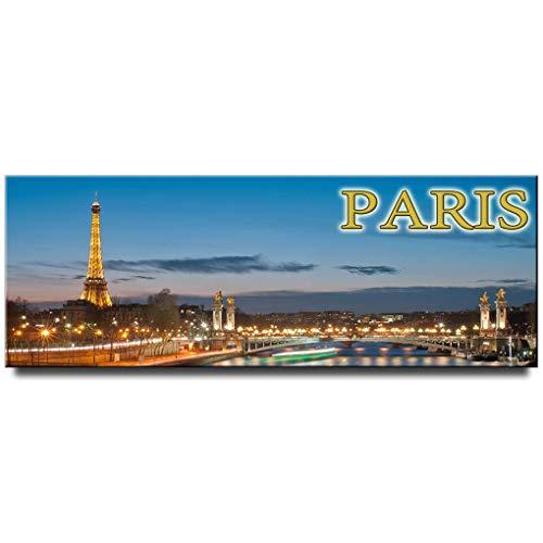 Night Paris Panoramic Fridge Magnet France Travel Souvenir