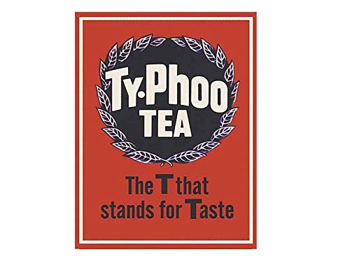 Ty-Phoo Tea The T That Stands For Taste Vintage Style Metal Advertising Wall Plaque Sign Or Framed Picture Frame,Aluminum Metal Signs Tin Plaque Wall Art Poster For Home Decor 12