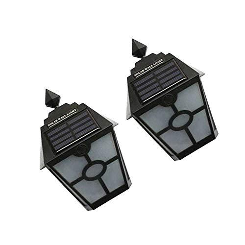 VVU Lámpara de Paisaje de Valla Impermeable de Camino de jardín al Aire Libre de luz Solar LED Retro