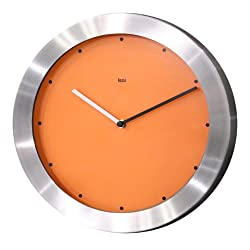 Bai Brushed Aluminum Wall Clock, Signature Orange - 784.SO