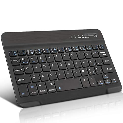 lijunjp Mini Wireless Bluetooth Keyboard, Multi-Platform Ultra-Slim Bluetooth Keyboard with Scissor Switch Keys, Builtin Rechargeable Battery, Compatible with Windows, Mac, iOS and Android