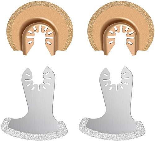 Multiherramienta Oscilante Cuchillas de Diamante Utiliza para Pulir Cemento, Desbastado y Eliminación de Lechada y baldosas Cerámicas Poweka