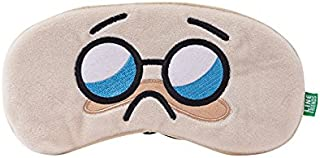 LINE FRIENDS Sleeping Mask - BOSS Character Eye Cover and Blindfold, Beige
