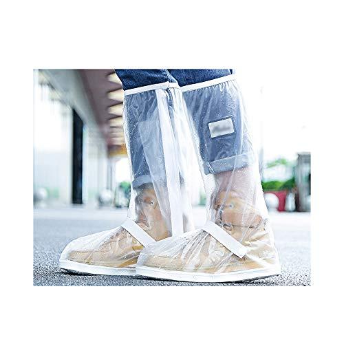 LIUFS Schuhüberzug wasserdichte Anti-Rutsch-Regenstiefel-Regenstiefelabdeckung für Herren Regenstiefel für Herren Verdickte Abriebfeste Silikon-Wasserschuhe