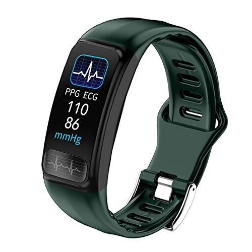 QKA ECG + PPG Smart Watch, Deportes Bluetooth Pulsera, Monitoreo De Ritmos Cardíaca, Recordatorio De Llamadas De Mensajes, Modo Deportivo Pulsera Inteligente para Android iOS,B