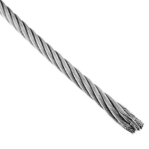 BeMatik - Cable de Acero Inoxidable de 6,0 mm en Bobina de 10 m