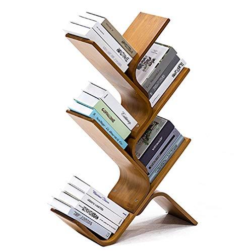 JKGHK Estantería de Madera de bambú Librerías, estantería de árbol, organizadores de Almacenamiento de Libros/CD/álbumes/Archivos, Estante de Almacenamiento de exhibición para el hogar, la Oficina
