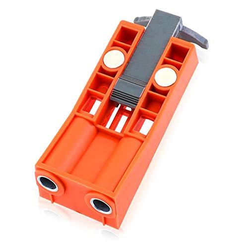 LIANGANAN 9,5 mm de plástico oblicua Localizador de Agujeros de perforación del taladro Herramienta de la carpintería Posicionador plantilla mueble kit de perforación magnética con agujero de ocultaci