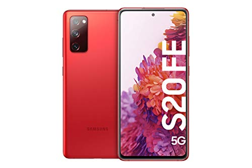 Samsung Galaxy S20 FE 5G, Android Smartphone ohne Vertrag, 6,5 Zoll Super AMOLED Display, 4.500 mAh Akku, 128 GB/ 6 GB RAM, Handy in Rot inkl. 36 Monate Herstellergarantie [Exklusiv bei Amazon]