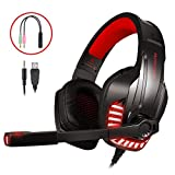 LATEC Micro Casque Gaming PS4, PC, Xbox One S, Ordinateur Portable,Tablette, Mac, Son...