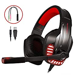 【Compatibilité étendue 】-- Ce casque de jeu PS4 est équipé d'un câble répartiteur jack 1 à 2 de 3,5 mm (Bonus). Prise en charge de PlayStation 4, PS4 Pro / Slim, nouvelle Xbox One, manette Xbox One S / X, PC, ordinateur portable, PSP, tablette, Mac, ...