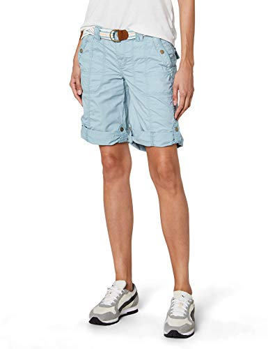 edc by ESPRIT Damen 038CC1C001 Bermuda, Grün (Dusty Green 335), 34