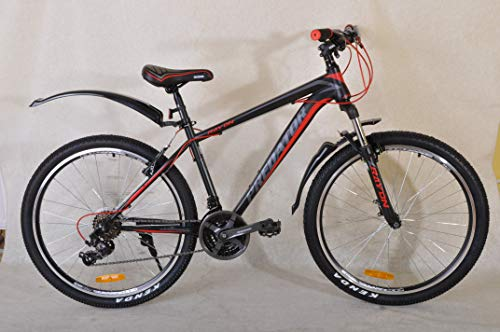 PREDATOR Unisex's 21 speeds Mountain Bike, Black Red, 26''