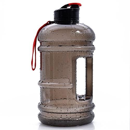 QPALZMGK-Bottiglia sportiva portatile, 2200ml, senza BPA, plastica, a prova di perdite, adatta per adolescenti, adulti, sport, palestra, fitness, ciclismo, scuola e ufficio, colore: blu