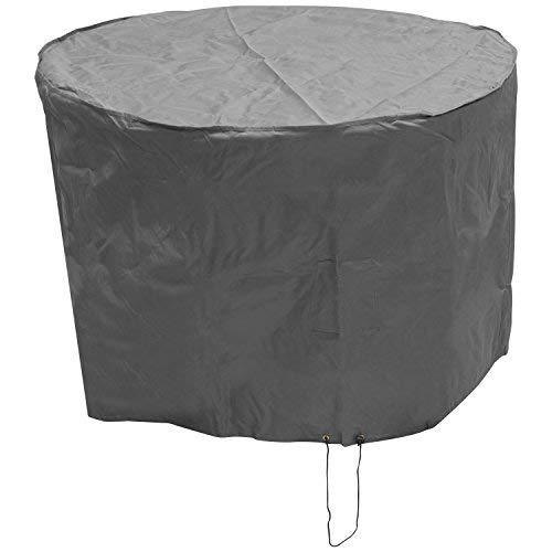 OXBRIDGE - Petite bâche de Protection - Ronde/imperméable - pour Meubles d'extérieur - Garantie 5 Ans - Gris - Petite Taille