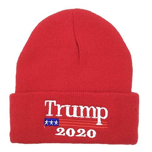 Unisexe Chapeaux d'hiver brodé Trump 2020 Keep America Grand Bonnet Bonnet