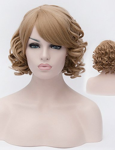 Perruques européens mode cheveux grand vague fille Perruques Mode de haute qualité du fil à haute température européen et américain nécessaire