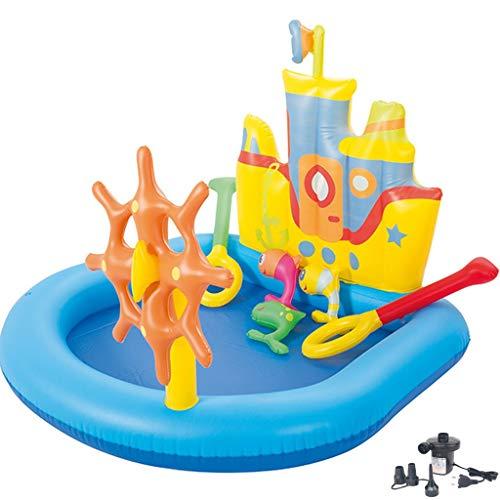 YUESFZ Aufblasbare Pools Kinder Cartoon Spielzeug Pool, Kindergarten Kreuzfahrt Pool, Garten Ocean Ball Pool, Home Bunten Wasserpark (Color : Blue+Yellow, Size : 4.5ft)