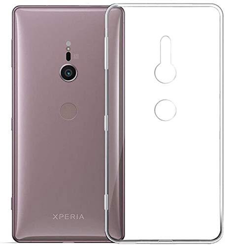 REY 3X Funda Carcasa Gel Transparente para Sony Xperia XZ2, Ultra Fina 0,33mm, Silicona TPU de Alta Resistencia y Flexibilidad