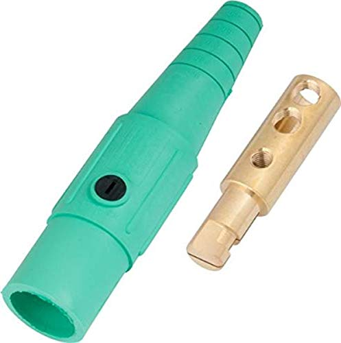 Marinco CLS40MB-E CLS Cam Type, Series 16 Inline, Single Pin Connector, 400 Amp, 600 Volt, 2/0-4/0 AWG, Male - Green (E)