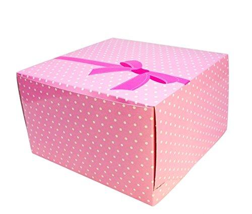 10 x Tortenbox Shantys - 30 x 30 x 15 cm höhenverstellbar (Tortenkarton)