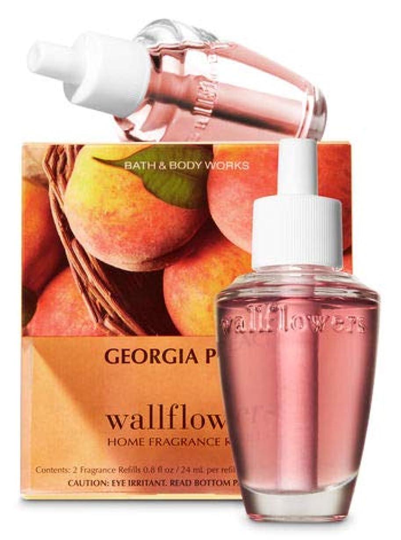 ベックスまどろみのある横に【Bath&Body Works/バス&ボディワークス】 ルームフレグランス 詰替えリフィル(2個入り) ジョージアピーチ Wallflowers Home Fragrance 2-Pack Refills Georgia Peach [並行輸入品]