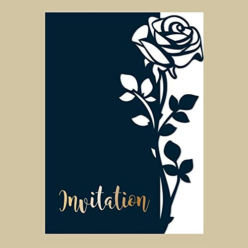 AkoMatial Cutting Dies,Rose Pattern Embossing Cutting Dies Tool Stencil Template Mold Card Making Scrapbook Album Paper Card Craft,Metal