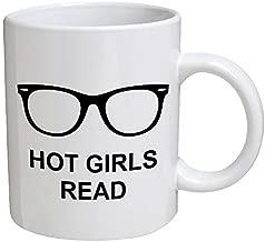 Funny Mug - Hot girls read, hipster - 11 OZ Coffee Mugs - Funny Inspirational and sarcasm - By A Mug To Keep TM