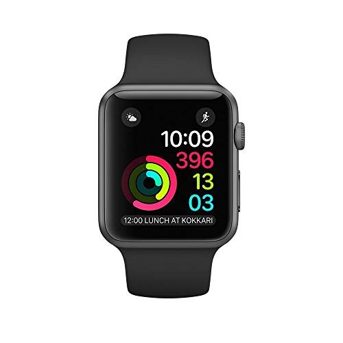 Apple Watch Series 2 42mm - Space Grey Aluminium Case with Black Sport Band (Renewed)…