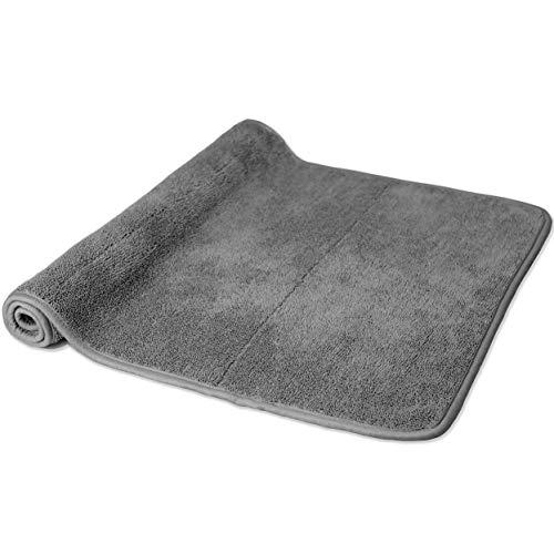 Polyte Toalla de baño de microfibra de felpa, 53 x 86 cm, gris