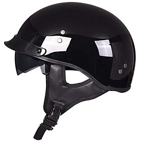 KAISIMYS Motorrad -Halb offener Helm Jet-Helm Roller Retro Mofa Scooter-Helm Chopper Motorrad-Helm, DOT/ECE-Zulassung für Männer und Frauen, Geeignet für Kopfumfang 55-63 cm