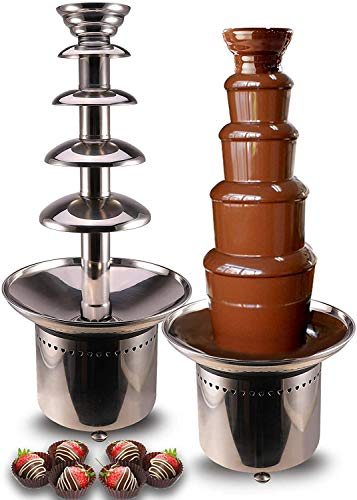 CO-Z Commercial Chocolate Fondue Fountain, Pro 5-Tier Large Dark Chocolate Melting Dipping Machine, Perfect for Nacho Cheese, Salsa, BBQ Sauce, Ranch, Weddings, Parties, Events, Restaurants