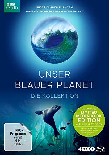 UNSER BLAUER PLANET - die Kollektion. LIMITED MEDIABOOK-EDITION inkl. umfangreichen Begleit-Texte, Poster und Postkarten-Set (exklusiv bei Amazon.de) [Blu-ray]