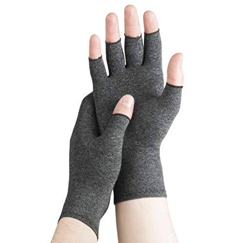 Serenily Arhtritis Gloves - Compression Gloves for Women & Men. Carpal Tunnel Gloves for Raynauds Syndrome, Rheumatoid & Osteoarthritis Pain Relief. Hand Compression Sleeve with Fingerless Design (S)