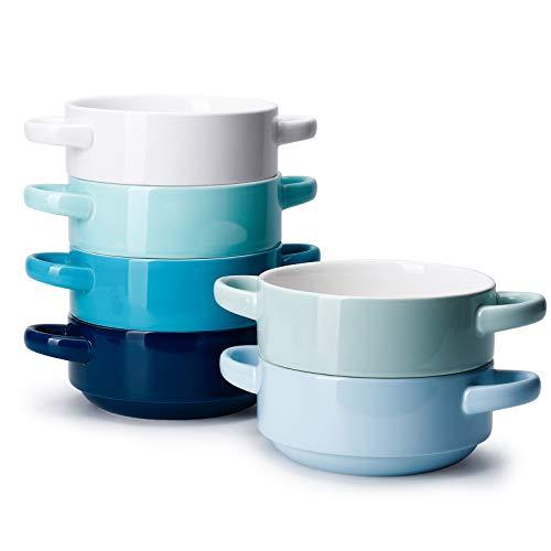 Porcelain Soup Bowls with Handles