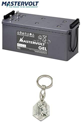 Zisa-Kombi Mastervolt Batterie Gel 12/140 Ah (93298884098) mit Anhänger Hlg. Christophorus