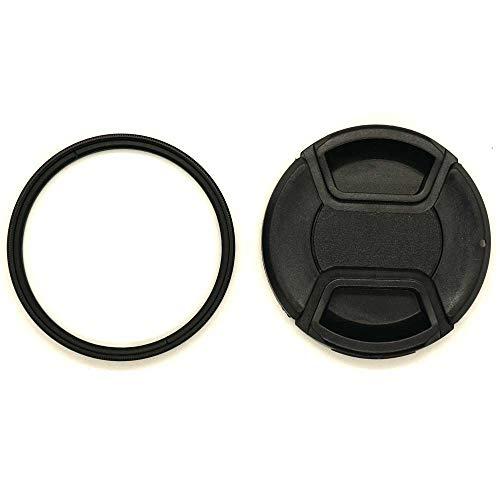 KOMET Filtro UV de vidrio de 49 mm marco delgado y tapa de lente de 49 mm para Sony RX1R NEX-7 5N con SEL 18-55 mm E 55-210 mm/Canon M50 M100 M6 con EF-M de 15-45 mm es STM
