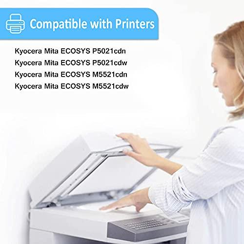 4 Colores Cartucho de Tóner Compatible (BK C M Y) Kyocera TK5230 TK-5230 2600 Páginas para Negro & 2200 Páginas para C M Y para Impresoras Kyocera ECOSYS P5021cdn, P5021cdw, M5521cdn, M5521cdw