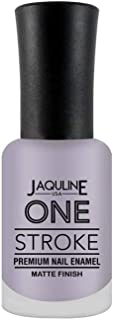 Jaquline USA One Stroke Premium Nail Enamel Matte Finish, Sweet Pea 39, 8 ml