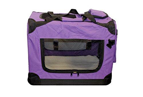 walexo Faltbare Hundebox Hundetransportbox Katzentransportbox Katzenbox (LILA, M)