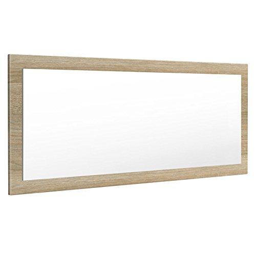 Vladon Spiegel Wandspiegel Lima 139cm in Eiche sägerau