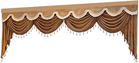 Luxury Brown High order Valance 2021 model for Window Curtain Swag Roya European