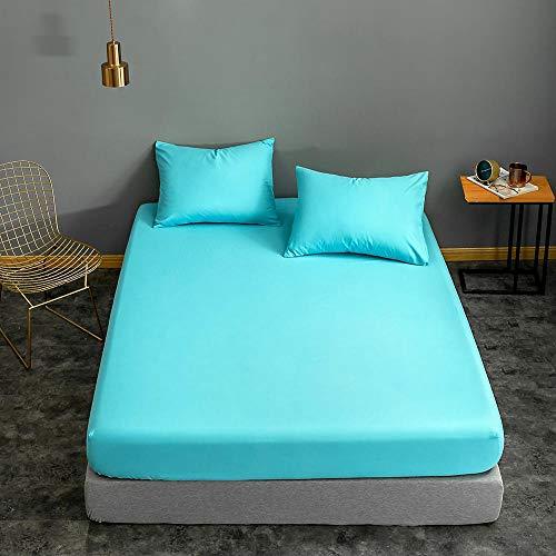 Bonenjoy Funda de colchón 160 * 200 Rojo Vino Color sólido para sábana Individual/Queen/King Funda de Almohada Drap Housse 2pillowcase51x66cm type8