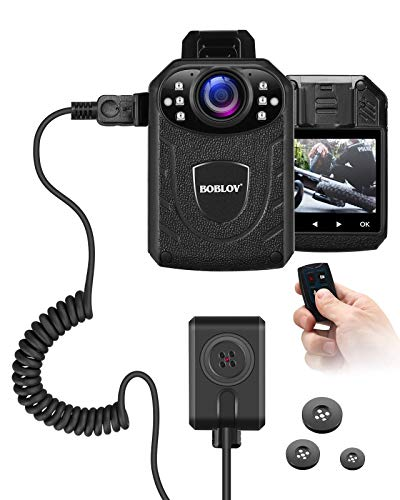 Bundle Deal KJ21Pro Body Camera with Remote Control,Body Camera with External Lens, 1296P Police Body Mounted Camera 8Hours Recording, Body Wearable Camera with Audio Night Vision(Card not Included)