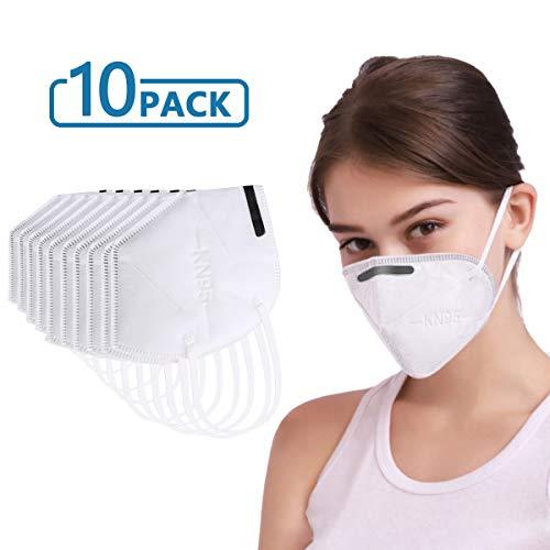 KN95 Mascarilla autocebante Tipo Filtro antipartículas,  estándar para Limpieza de Bricolaje,  construcción,  Uso doméstico,  Corte de Madera y más máscara Facial Antipolvo