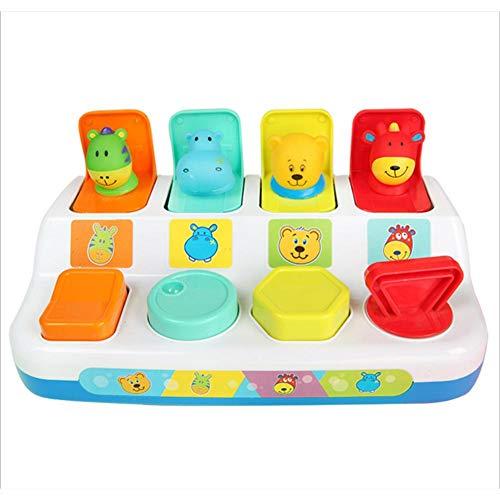 Kioski Pop-up speelgoed Kiekeboe Pop-up speelgoed Schakelkast Knoppendoos Schat Schrikdoos Babyintelligentie Push-pop Voor 1-3 jaar Baby Schakelkast Sleutelkastje
