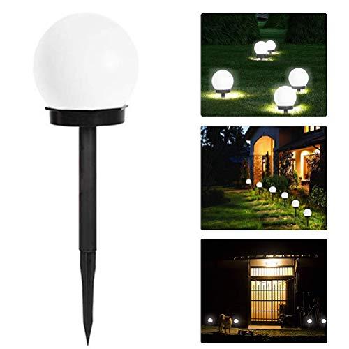 sdgfd Lámparas LED solares para el diseño de esferas al Aire Libre Picos de Tierra Luces enchufables iluminación de senderos de jardín para Paisaje de Pasarela de Patio de Patio Trasero